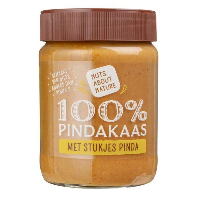 5: 100% Pindakaas, AH; 350 g. 1,75 euro (0,50 euro /100 g.) Beeld
