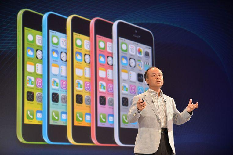 De iPhone 5c zal wel kunnen updaten naar iOS 8. Beeld AFP