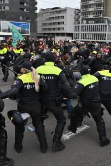 Acht arrestaties bij woonprotest na onrust, mars wel afgerond