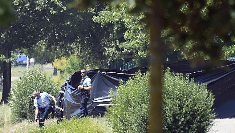 De politie doet onderzoek na de aanslag Beeld ANP