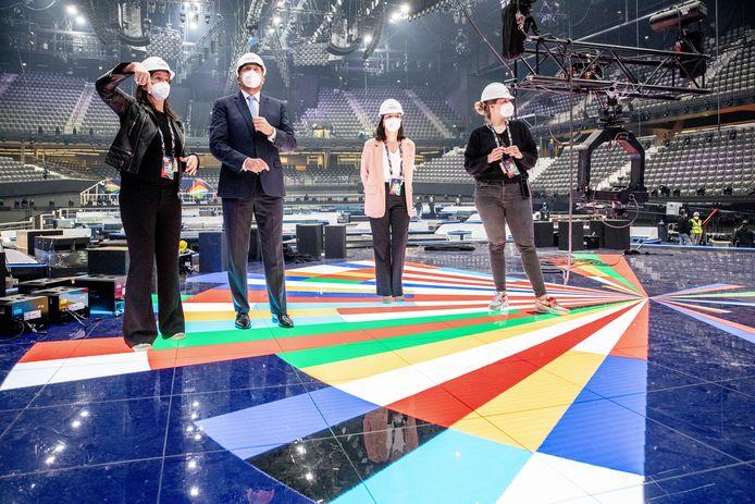 Koning Willem-Alexander kwam verleden week langs in Ahoy. De grote vraag is of er in mei publiek op de tribunes zal zitten bij het Eurovisie Songfestival.