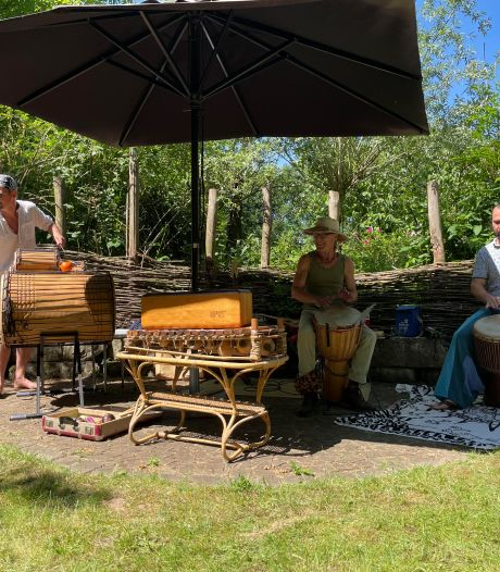 Djembé Joy Groep uit Eibergen gaat heel hard trommelen, zonder geluidsoverlast