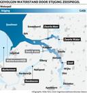 Gevolgen voor de waterstand in de regio door stijging van de zeespiegel