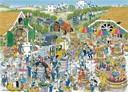 'De Wijnmakerij in Groesbeek', getekend door Nijmegenaar Rob Derks in de serie Jan van Haasteren-puzzels van Koninklijke Jumbo.