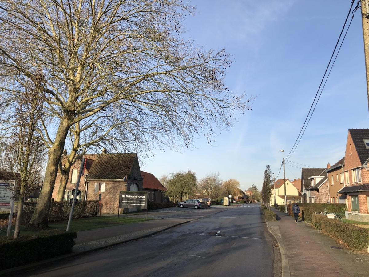 De dorpskern in een straal van 1 kilometer rond De Schranshoeve wordt onder de loep genomen.
