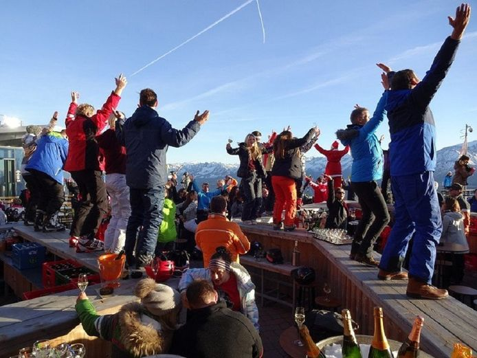 Après-ski in Zell am See.