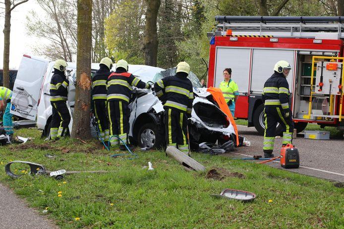 Ernstig ongeluk op de Berghemseweg in Herpen.