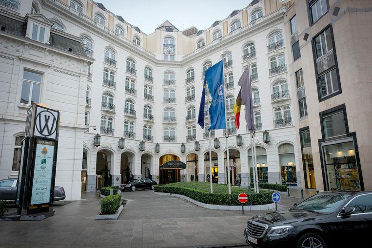 """Hotel Steigenberger Wiltcher's kreeg het label als erkenning voor de """"belangrijke aanpassingen die er gebeurd zijn om te voldoen aan de criteria rond comfort, prestige en onthaal"""". Beeld Marc Baert"""