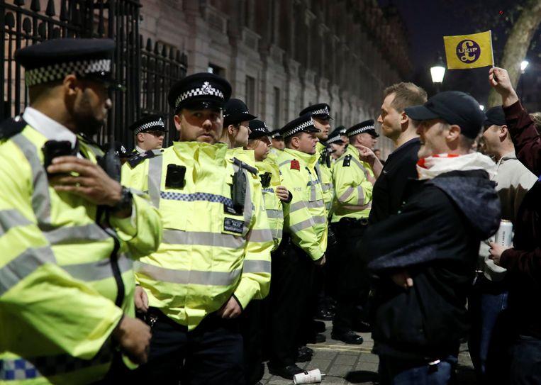 Archiefbeeld van een pro-brexit betoging.