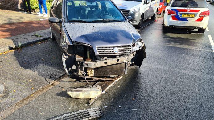 De voertuigen raakten ernstig beschadigd