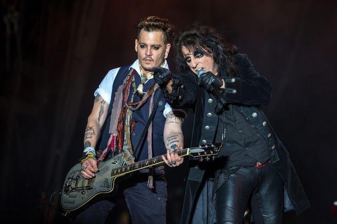 Johnny Depp en Alice Cooper.