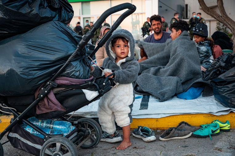 Na de branden in het opvangkamp Moria beloofde het kabinet om honderd kansrijke vreemdelingen op te nemen. Beeld Getty