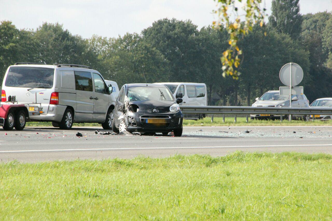 De schade na het ongeluk was groot.