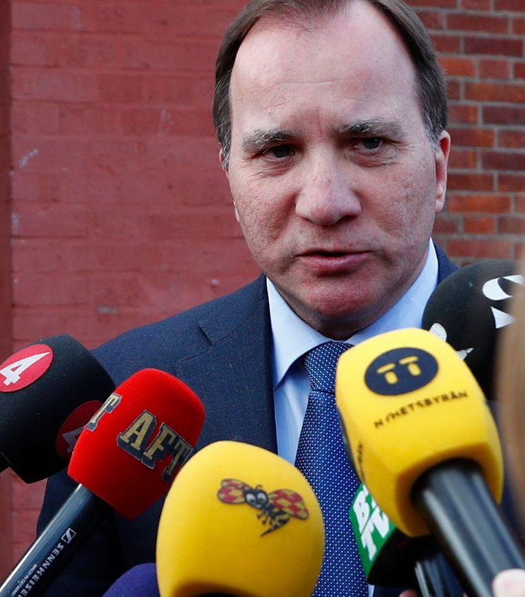 De Zweedse premier Stefan Löfven. Beeld EPA
