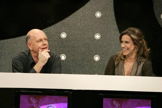 Jan Cocheret (links) en Cilly Dartell tijdens een aflevering van het TALPA tv programma MAN - VROUW in 2006