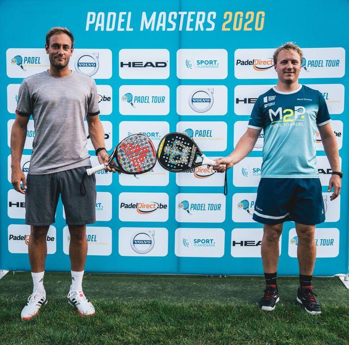 Nick Braet en Jeremy Gala tijdens de Padel Masters 2020.