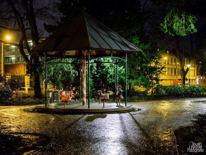 Wilhelminapark in de regen. Foto Jostijn Ligtvoet.