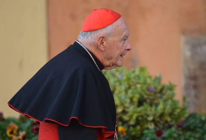 Kardinaal Theodore McCarrick op een foto uit 2013 bij het Vaticaan in Rome.