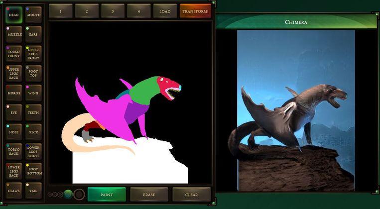 Van Paint-krabbel naar fantasy-monster, met één druk op de knop Beeld Google