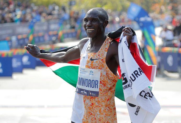 Geoffrey Kamworor won vorig jaar de marathon van New York