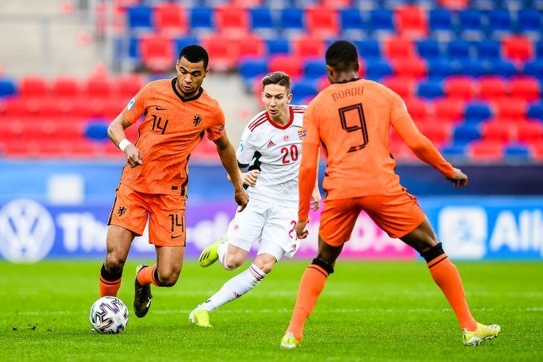 PSV'er Cody Gakpo (links) was de man van de wedstrijd met twee goals en een assist. Beeld Pro Shots / Paul Meima