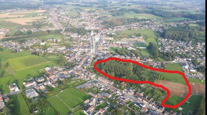 Sint-Lievens-Houtem: Het omcirkelde gebied maakt plaats voor een nieuwe wijk.