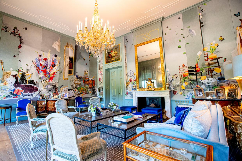 Blauwe Salon in Huis ten Bosch, Den Haag. Beeld anp