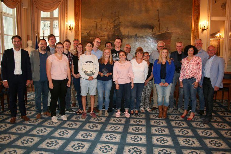 Badminton Tienen ontvangen in stadhuis