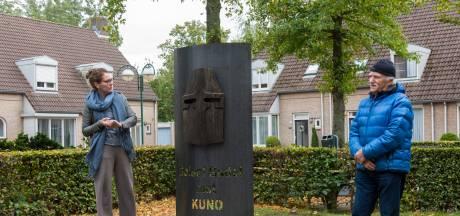Middeleeuws houten masker voor Budelse ridder Kuno
