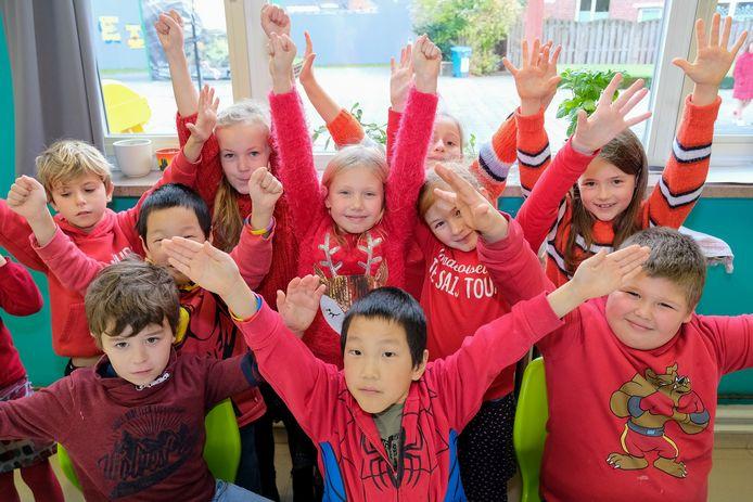 Leerlingen van De Kei in Kapelle-op-den-Bos