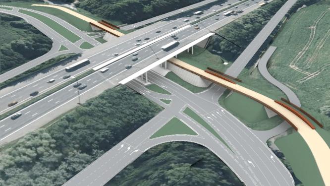 Herinrichting op-en afrittencomplex Koningslo van start: vliegende fietsbrug is op komst