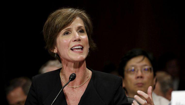De ontslagen Amerikaanse minister van Justitie Sally Yates. Beeld reuters