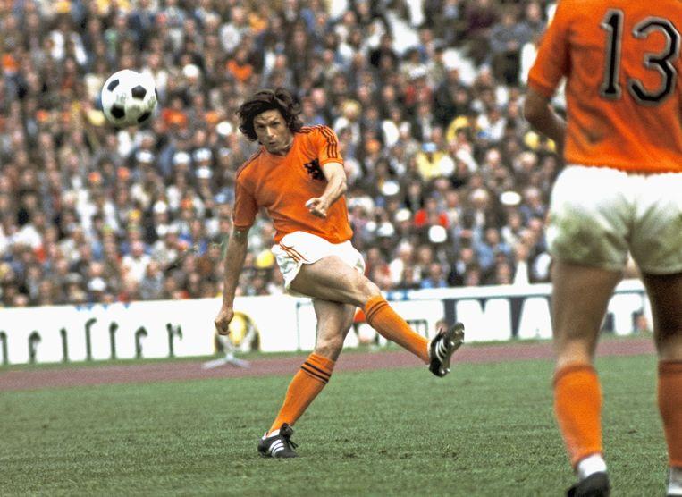 Wim Suurbier tijdens het WK in West Duitsland. Beeld Hollandse Hoogte /  ANP
