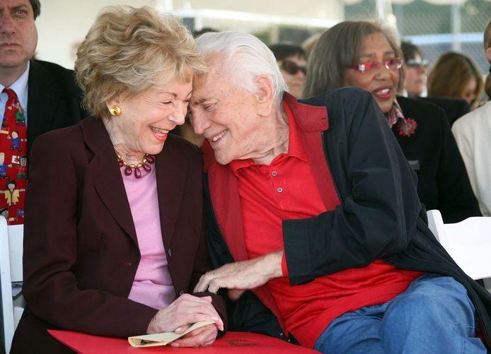 Anne en Kirk Douglas.
