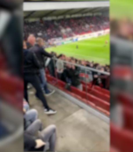 Les images d'un supporter de l'Antwerp lançant un déambulateur sur des supporters allemands