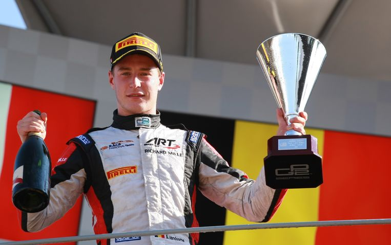 Stoffel Vandoorne na GP2-succes in Monza in september vorig jaar.