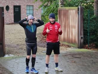 """Broers Maxime (31) en Alexander (27) lopen 4.000 euro bij elkaar voor kinderkankerfonds: """"Om elkaar niet op te jutten liepen we afzonderlijk"""""""