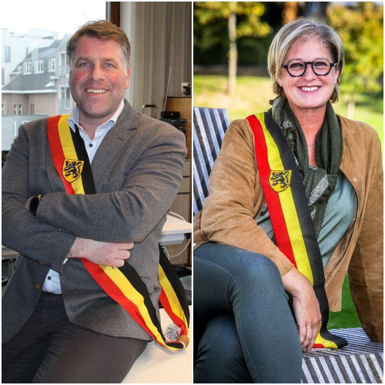 Bram Degrieck en Ann Vanheste Beeld GUS/Benny Proot