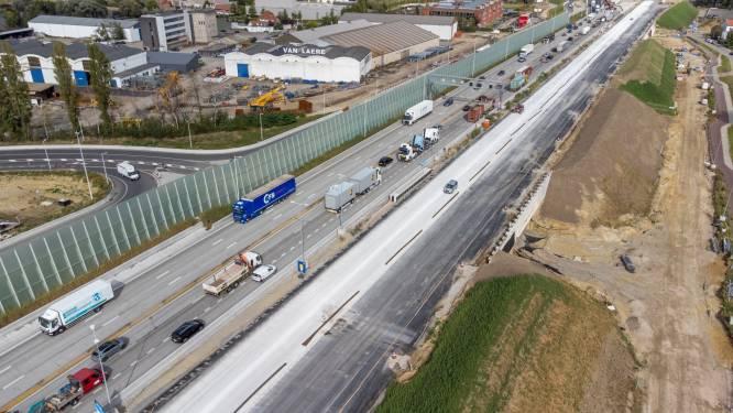 Nieuwe rijbaan E17 richting Antwerpen bijna afgewerkt