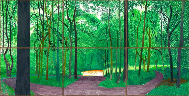 Woldgate Woods, 26, 27 & 30 July 2006. Beeld David Hockney
