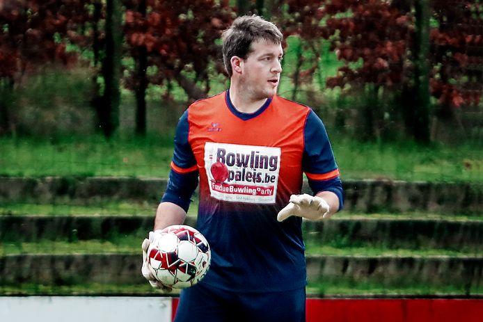 Sven De Volder (Eendracht Aalter) weet dat zijn ploeg voor een moeilijke wedstrijd staat.