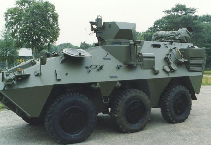 Un blindé Pandur de l'armée belge.