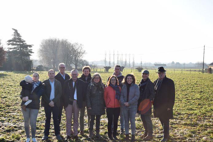 CD&V Zulte wil meer open ruimte bewaren en voerde zondagvoormiddag actie.