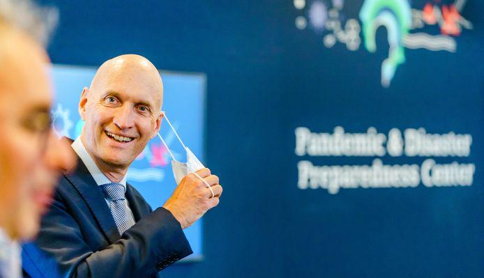 Ernst Kuipers tijdens de lancering van het Pandemic and Disaster Preparedness Center in het Erasmus MC.