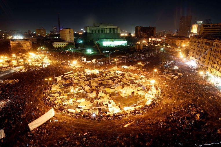Tien jaar geleden was het Tahrirplein het middelpunt van de protesten tegen oud-president Hosni Mubarak.  Beeld REUTERS