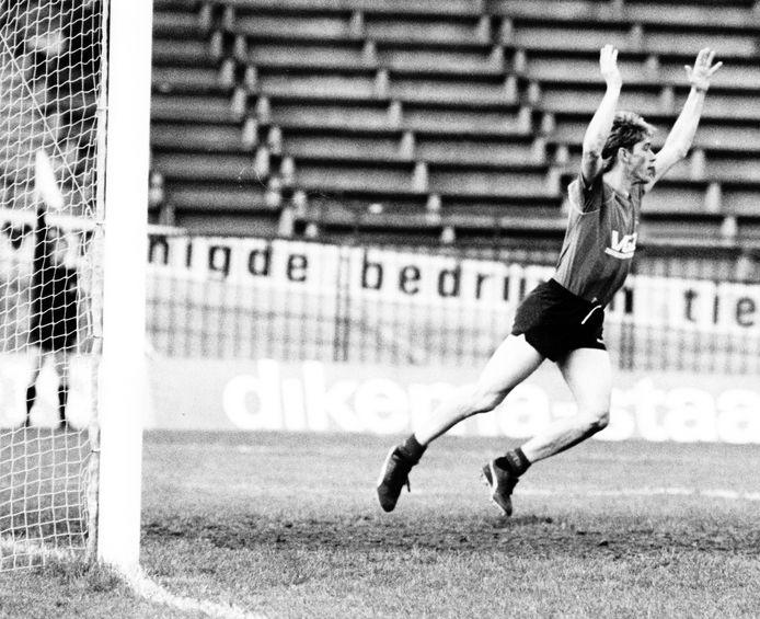 1987: Frans Janssen juicht in De Goffert.