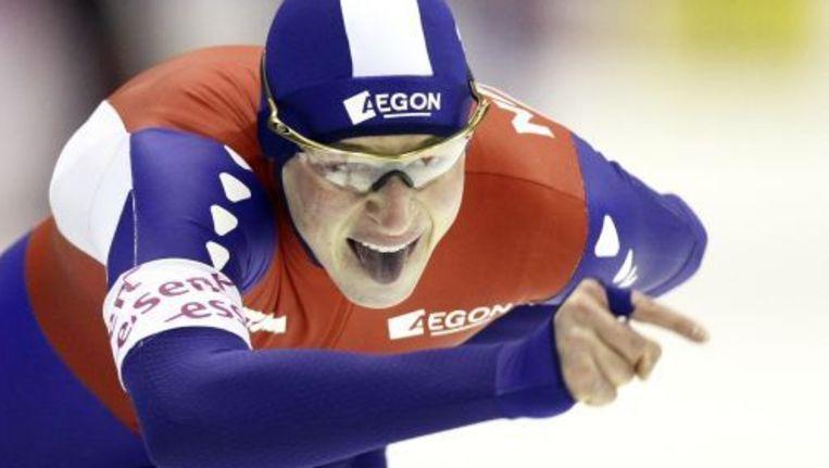 Sven Kramer in actie op de tien kilometer. ANP Beeld