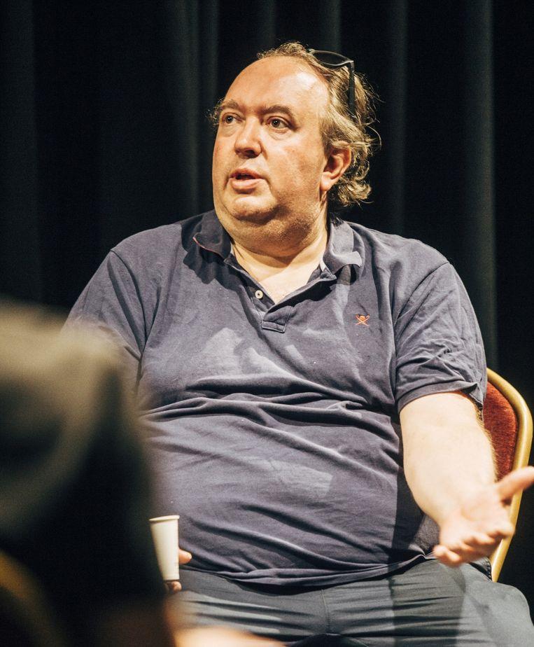 Mike Naert: 'Een klassiek orkest kan zelfs niet repeteren. Een hoorn blaast opzij, een fagot naar onder, een trombone recht vooruit...' Beeld Anton Coene