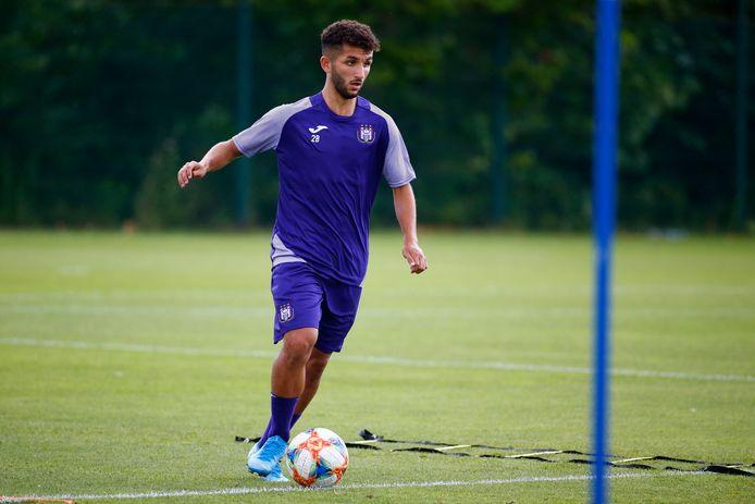 Hotman El Kababri vorig seizoen op training bij Anderlecht.