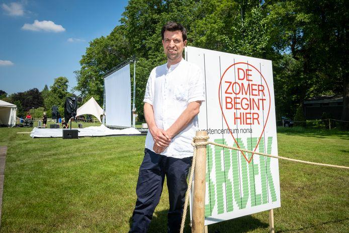 MECHELEN Bart Vanvoorden op één van de tribunes van festival Broek in het Vrijbroekpark.